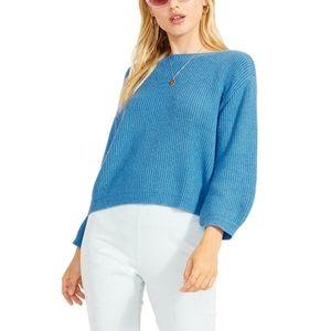 BB Dakota   NWT Skylie Boatneck Sweater Blue Large